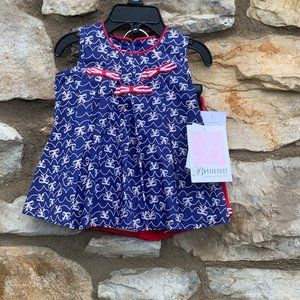 Bonnie Baby red white blue dress size 6-9 months